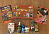 Zoo Med Tortoise kit- Bulb, Books, Calcium, Grassland food, Reptisafe, Wipe out - FREE recorded postage (1)
